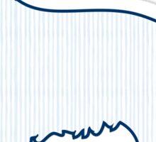 Blue Watercolor Pinstriped Preppy Retriever Dog Sticker