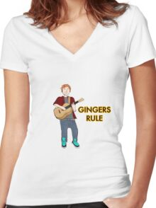 Gingers Rule Women's Fitted V-Neck T-Shirt