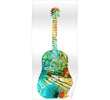 Acoustic Guitar 2 - Colorful Abstract Musical Instrument Poster