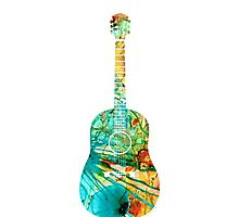 Acoustic Guitar 2 - Colorful Abstract Musical Instrument Photographic Print