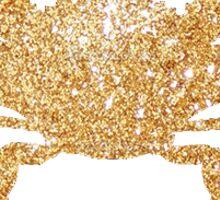 Glitter Crab GPhiB Sticker