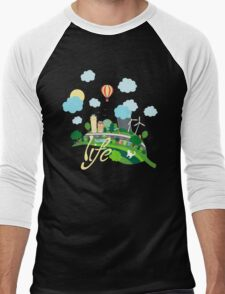 Eco Life Men's Baseball ¾ T-Shirt
