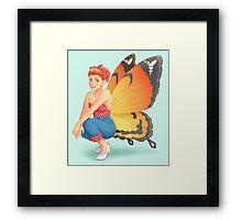 Retro Fairy Framed Print