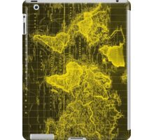 Vintage Map of The World (1833) Black & Yellow iPad Case/Skin