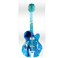 Vintage Guitar - Colorful Abstract Musical Instrument Poster