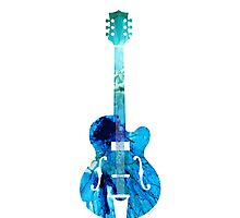 Vintage Guitar - Colorful Abstract Musical Instrument Photographic Print