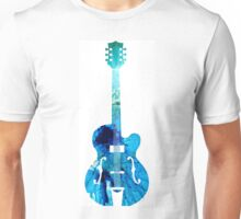 Vintage Guitar - Colorful Abstract Musical Instrument Unisex T-Shirt