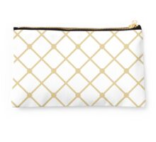 Cross hatch in Gold Pattern Studio Pouch