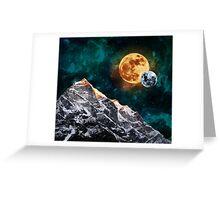 Mountain Peak Night Greeting Card