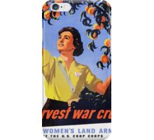 Women's Land Army Harvesting WW2 iPhone Case/Skin