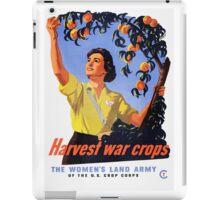 Women's Land Army Harvesting WW2 iPad Case/Skin