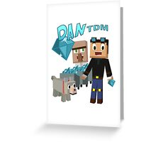 DanTDM The Diamond Minecart - Minecraft Youtuber Greeting Card