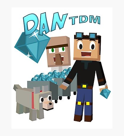 DanTDM The Diamond Minecart - Minecraft Youtuber Photographic Print