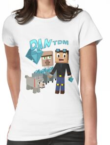 DanTDM The Diamond Minecart - Minecraft Youtuber Womens Fitted T-Shirt