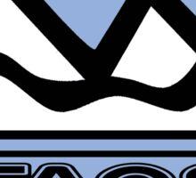 TAOS NEW MEXICO Mountain Skiing Art Sticker