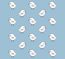 Busy Birdies - Sapphire and Rose Quartz One Piece - Short Sleeve