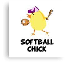 Softball Chick Canvas Print