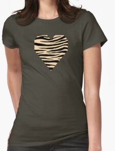 0450 Navajo White Tiger Womens Fitted T-Shirt