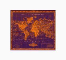 Vintage Map of The World (1833) Purple & Orange  Unisex T-Shirt
