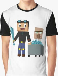 The Diamond Minecart DanTDM and Doctor Trayaurus - Minecraft Youtuber Graphic T-Shirt