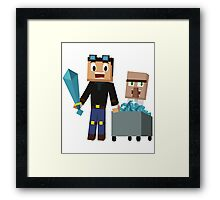 The Diamond Minecart DanTDM and Doctor Trayaurus - Minecraft Youtuber Framed Print