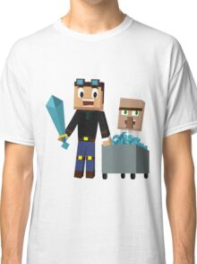 The Diamond Minecart DanTDM and Doctor Trayaurus - Minecraft Youtuber Classic T-Shirt