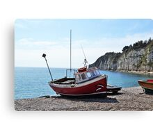Red Boat (1) Canvas Print