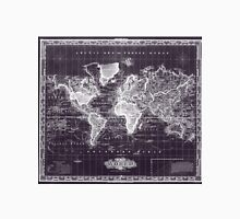 Vintage Map of The World (1833) Purple & White  Unisex T-Shirt