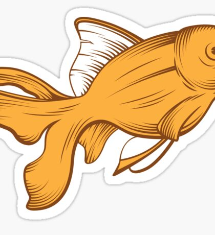 gold fish Sticker