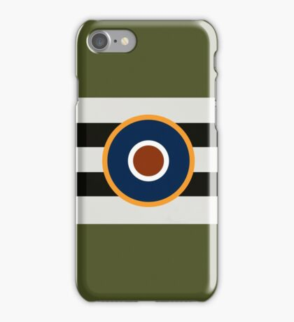 D-Day Stripes with RAF Roundel (Horizontal) iPhone Case/Skin