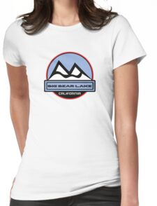 BIG BEAR LAKE CALIFORNIA Mountain Skiing Art Womens Fitted T-Shirt