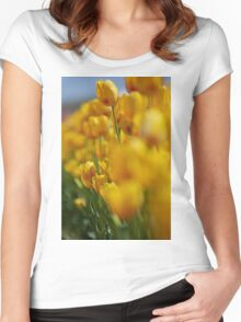 Yellow Tulips Women's Fitted Scoop T-Shirt