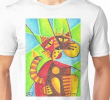 Cubism king cat Unisex T-Shirt