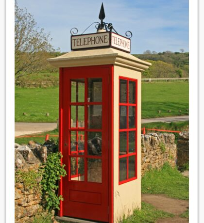 Tyneham Telephone Box Sticker