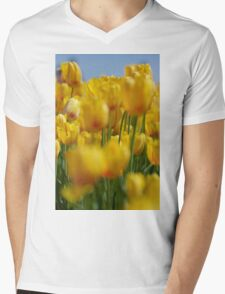 Yellow Field of Tulips Mens V-Neck T-Shirt