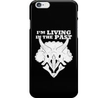 Living in the Past with Triceratops iPhone Case/Skin