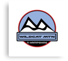 WILDCAT MOUNTAIN NEW HAMPSHIRE Mountain Skiing Ski Art Canvas Print