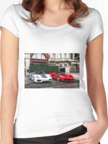Porsche 918 Spyder & Ferrari LaFerrari Women's Fitted Scoop T-Shirt
