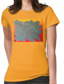 Turquoise tree Womens Fitted T-Shirt