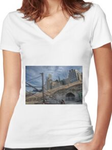 Minneapolis 26 Women's Fitted V-Neck T-Shirt