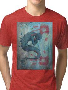 Mermaid Distressed Tri-blend T-Shirt