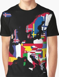 Europe map flags Graphic T-Shirt