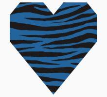 0457 Ocean Boat Blue Tiger Kids Tee