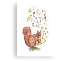 Saxophone Squirrel Canvas Print