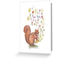 Saxophone Squirrel Greeting Card