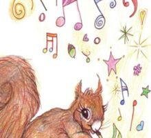 Saxophone Squirrel Sticker