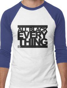 ALL BLACK EVERYTHING Men's Baseball ¾ T-Shirt