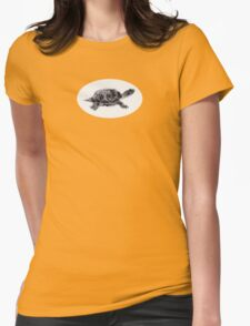 Red Ear Thumbtle Womens Fitted T-Shirt