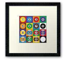 Pool Ball Checkerboard Framed Print