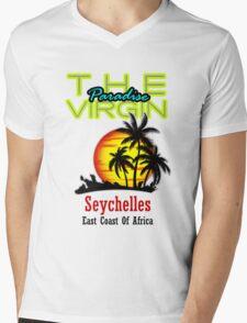 The Virgin Paradise, Seychelles Mens V-Neck T-Shirt
